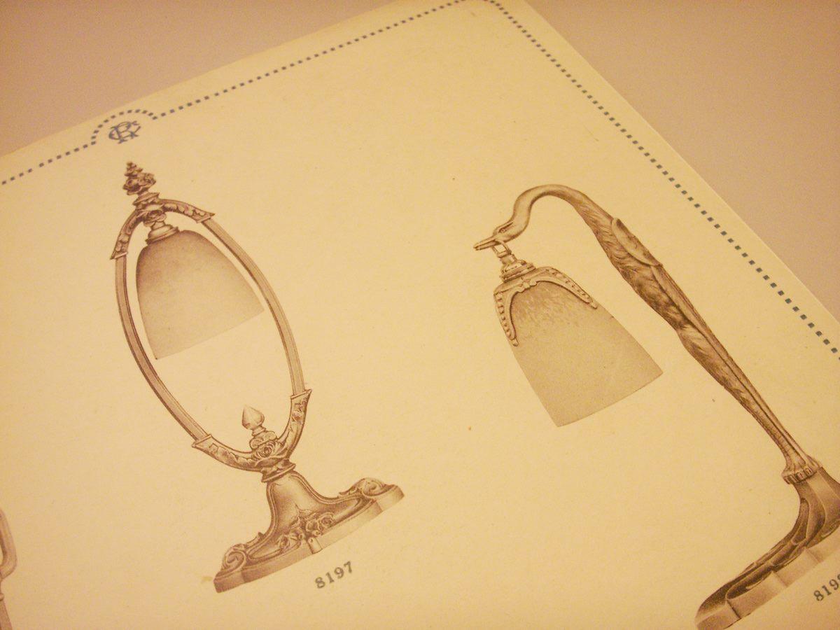 Lampensalon Katalogseite